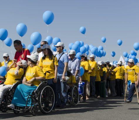 Handicap marche Bichkek Kirghizstan
