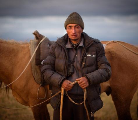 Cheval Cavalier Kirghizstan Steppe