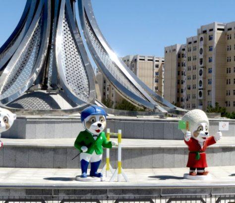 Achgabat Turkménistan Jeux asiatiques Mascottes