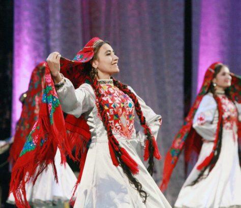 Indépendance Tadjikistan fête Danseuses