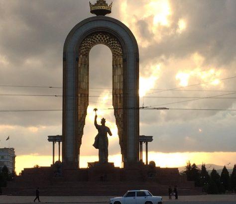 Somoni Ismaïl Douchanbé Tadjikistan Statue Samanides