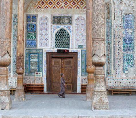 Mosquée Bolo Haouz Boukhara Ouzbékistan Femme