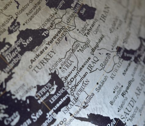 Monde Syrie Turquie Irak Globe