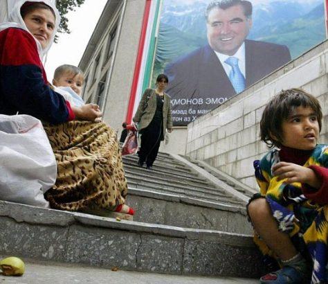 Mendiants Tadjikistan Douchanbé