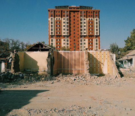 Douchanbé Tadjikistan Bâtiment Destruction