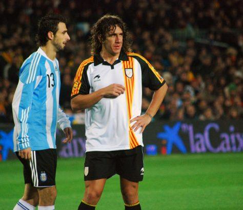 Carles Puyol Droite Match Argentine Catalogne