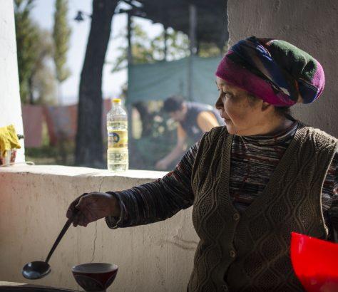 Plov Préparation Kirghizstan