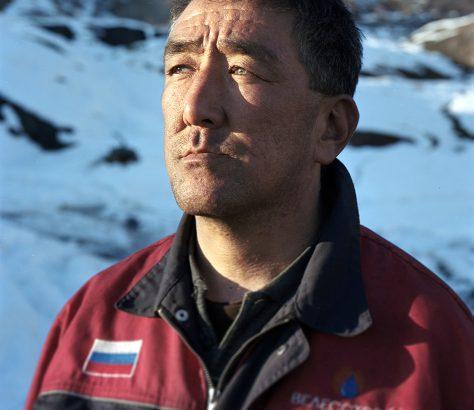 Mineur de charbon à Mailuu-Suu Kirghizstan