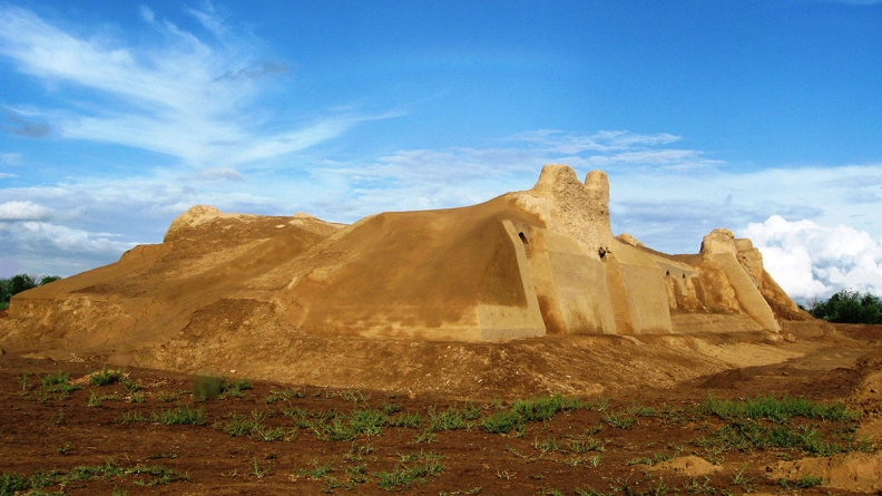 Kharaba-Kochk Turkménistan Basilique Palais Christianisme