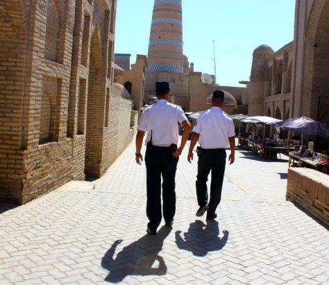 Police Khiva Ouzbékistan