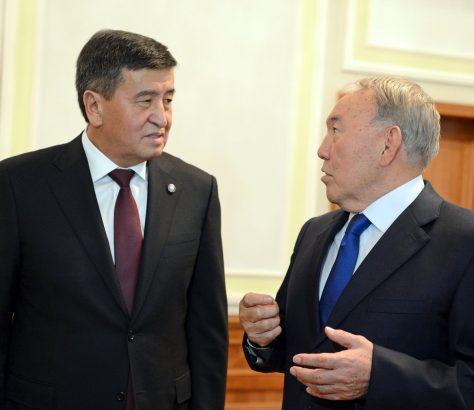 Présidents Sooronbaï Jeenbekov Noursoultan Nazarbaïev