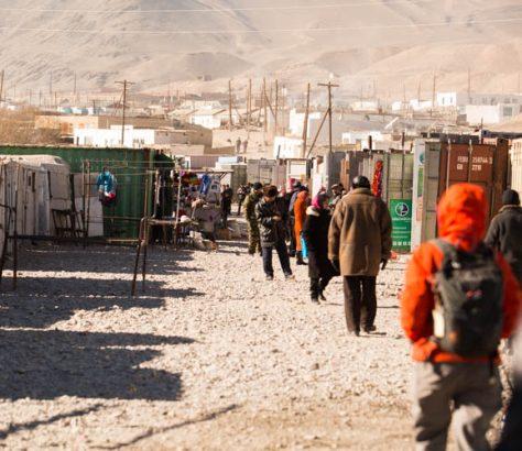 Tadjikistan Village Pauvreté Hiver Froid
