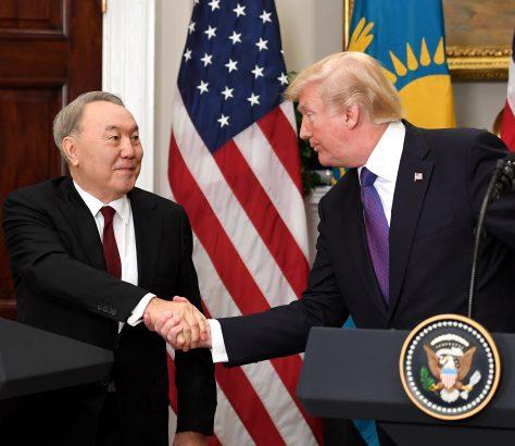 Donald Trump Noursoultan Nazarbaïev Kazakhstan Etats-Unis Rencontre Visite