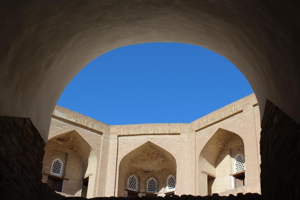 Khorezm Ciel Khiva Ouzbékistan Madrassa