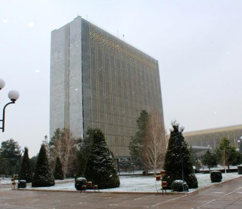 Samarcande Préfecture Ouzbékistan Neige Hiver