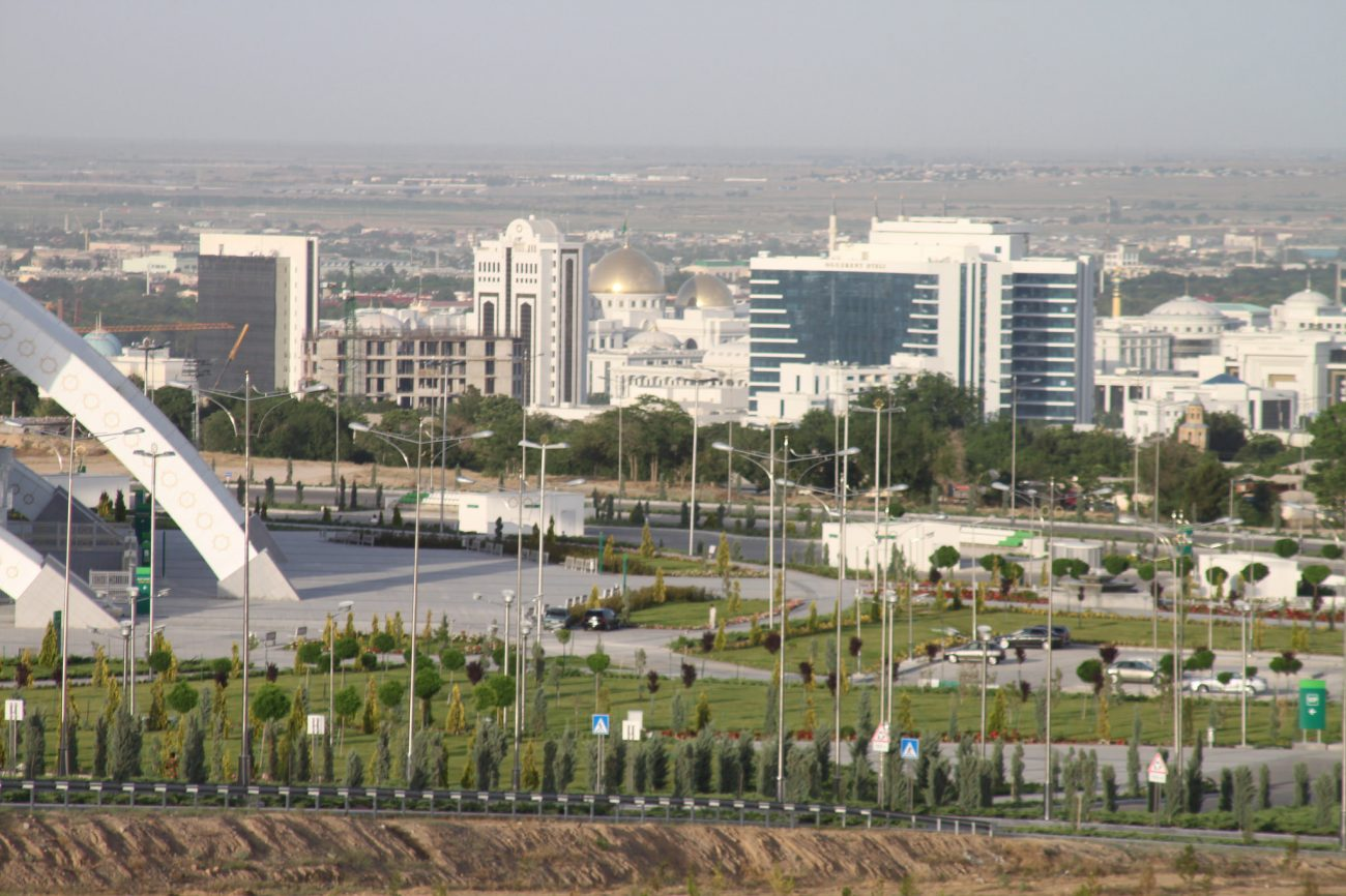 Aperçu Banlieue Achgabat Capitale Turkménistan