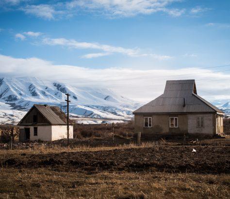 Le village de Kojomkoul au Kirghizstan