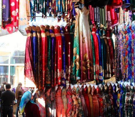 Tissu Marché Marguilan Ouzbékistan