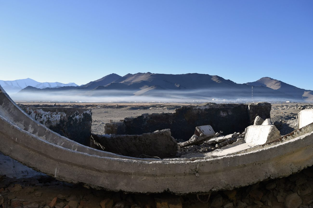 Kara-Koul Tadjikistan Lac Brouillard Montagne