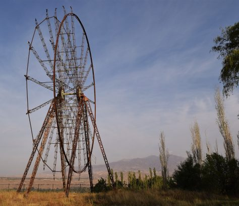 Toktogoul Kirghizstan Grande Roue URSS