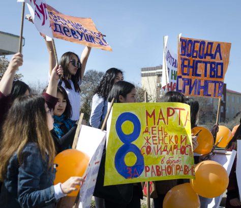 Manifestantes, droit de la femme, journée de la femme, Och
