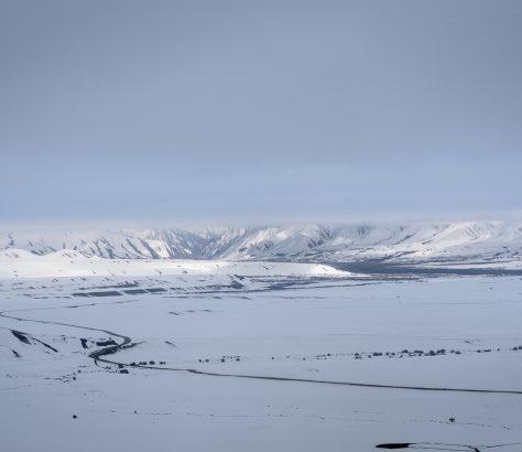 Kirgistan im Winter Schnee