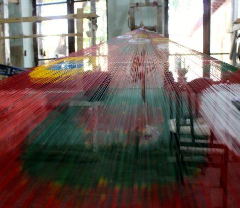 Soie Marguilan Ouzbékistan Fabrique Tisser