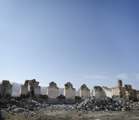 Kolkhoze Kirghizstan Naryn Ruine