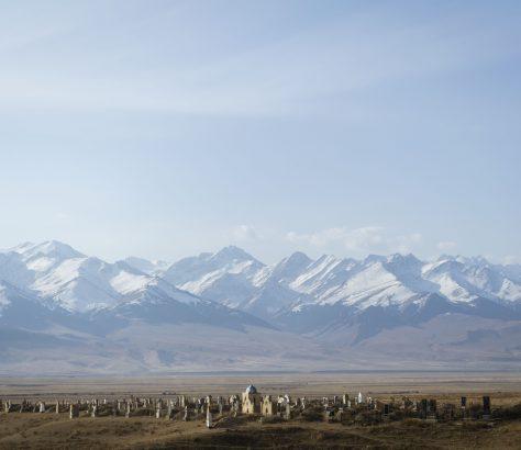Kirghizstan Montagnes Cimetière Naryn