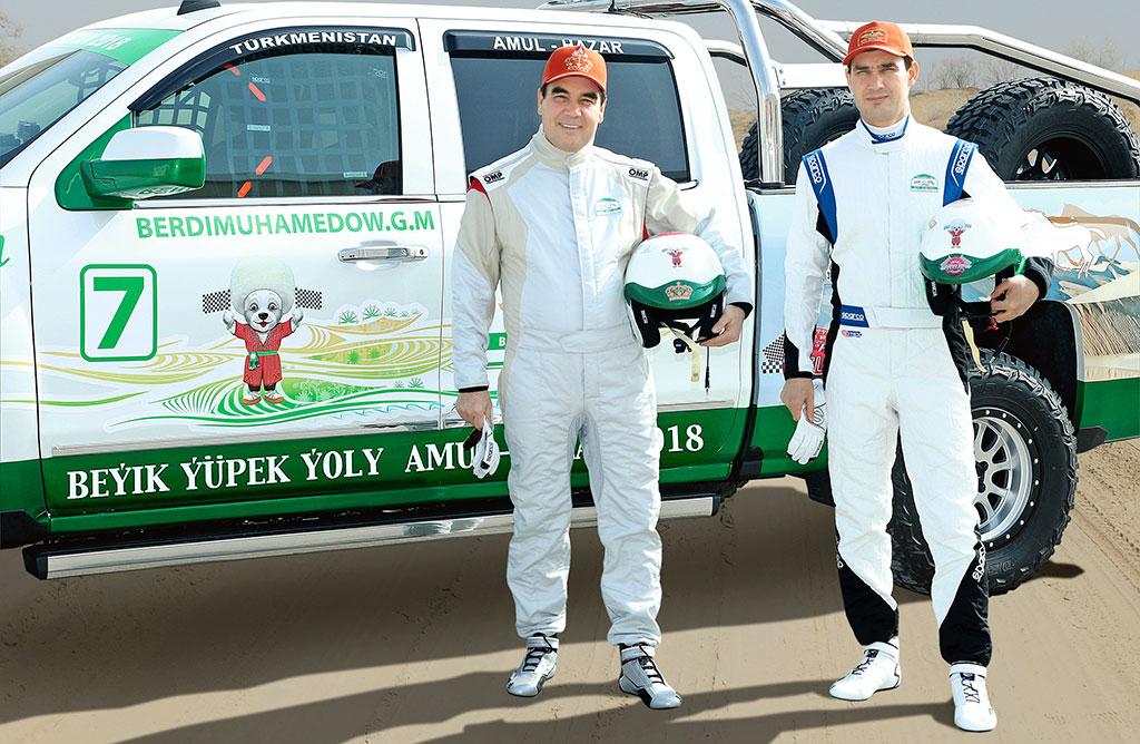 Serdar Berdimouhamedov Gourbangouli Rallye Amul-Khazar