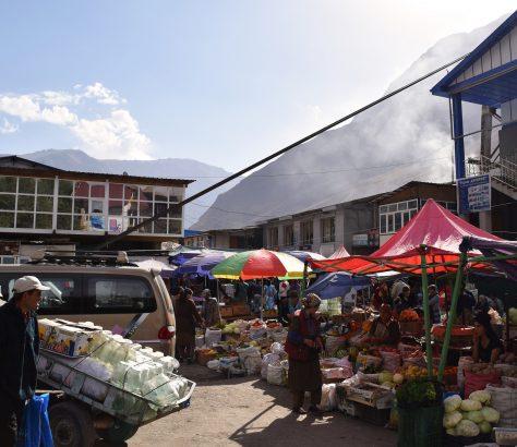 Bazar, Marché, Khorough, Tadjikistan, Asie Centrale