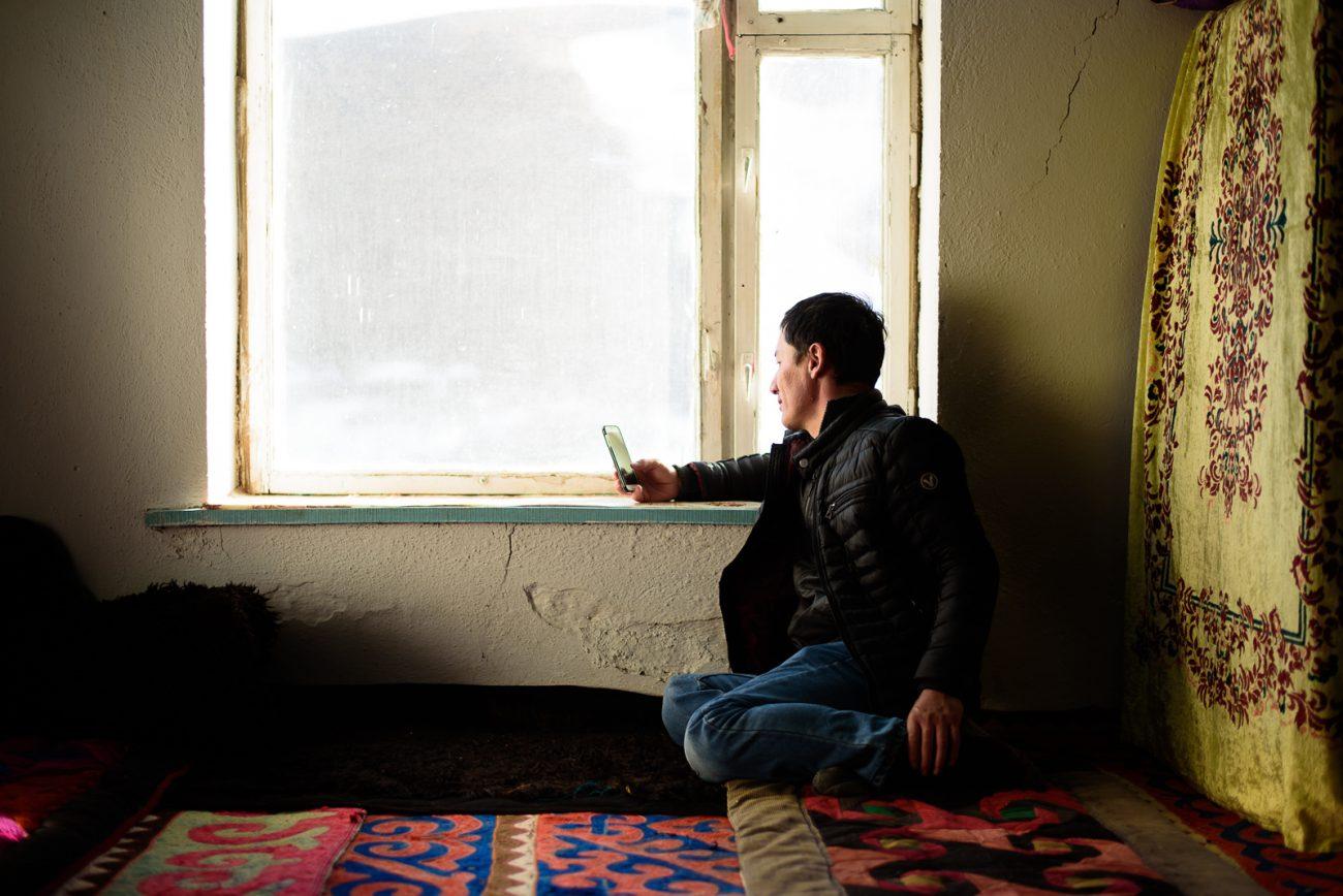 Guide cherche du réeau au Kirghizstan