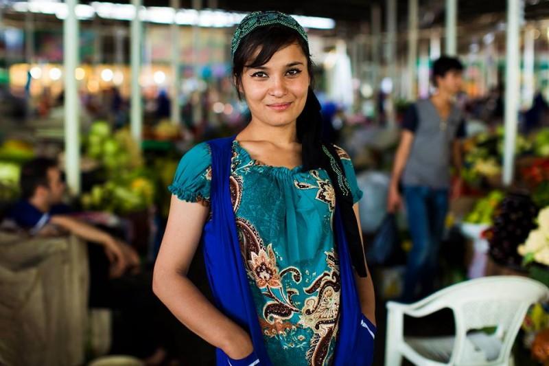 Tajikistan Femme Tadjik Vêtements Mode