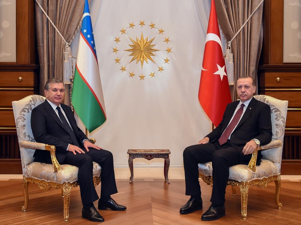 Chavkat Mirzioïev Recep Tayyip Erdogan Rencontre Ouzbékistan Politique