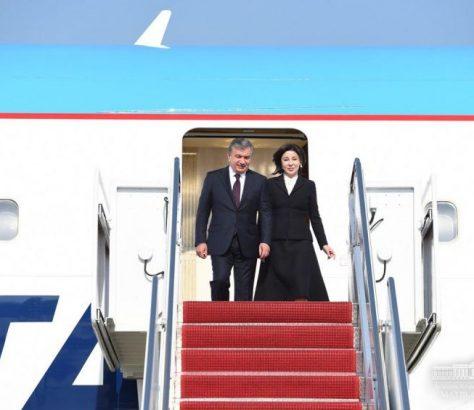 Président ouzbek visite