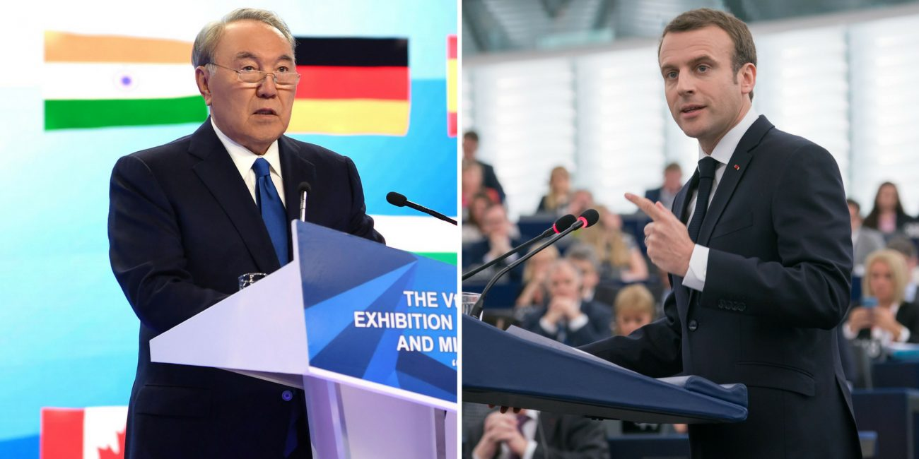 Noursoultan Nazarbaiev Macron Emmanuel Visite Kazakhstan France Diplomatie