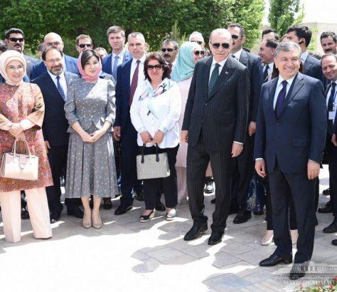 Recep Tayyip Erdogan Chavkat Mirzioïev Visite Ouzbékistan