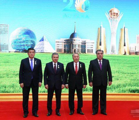 Quatre chefs d'Etat centrasiatiques réunis à Astana pour l'anniversaire du président kazakh, Noursoultan Nazarbaïev