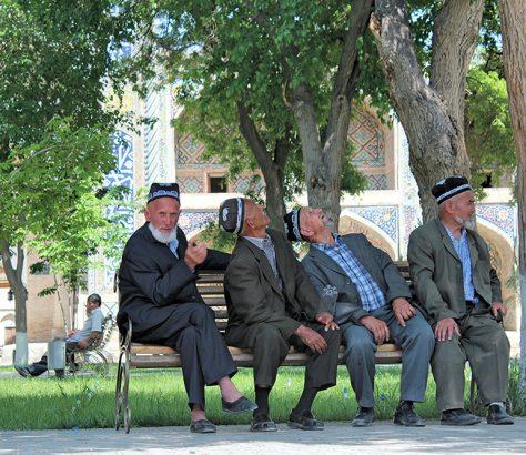 Ouzbékistan Boukhara banc