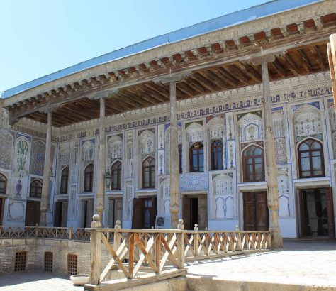 Une des plus belles maisons anciennes de Boukhara - celle de premier président de la RSS d'Ouzbékistan, Faizullo Khodjaev