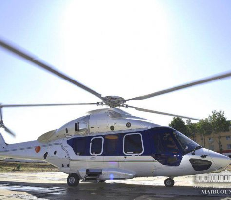 Hélicoptère Président Chavkat Mirzioïev
