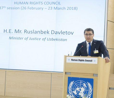 Ministre Justice Rouslabek Davletov Locaux Genève