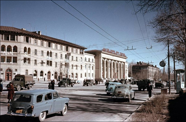 Ouzbékistan Tachkent Rue années 1950