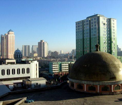 Vue Urumchi Capitale Région Xinjiang