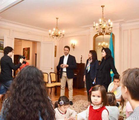L'ouverture du centre culturel kazakh en France, Korkyt, par l'ambassadeur kazakh