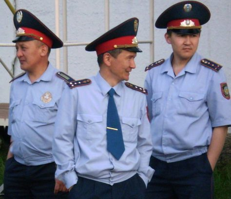 Des policiers kazakhs (illustration)