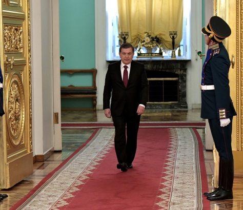 Président Chavkat Mirzioïev Moscou Avril