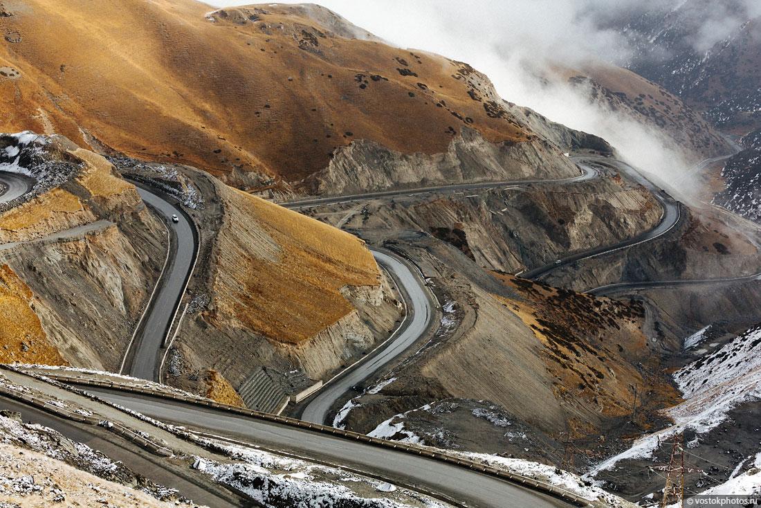 Kirghizstan Pamir Montagne Reportage Paysages Route Virages