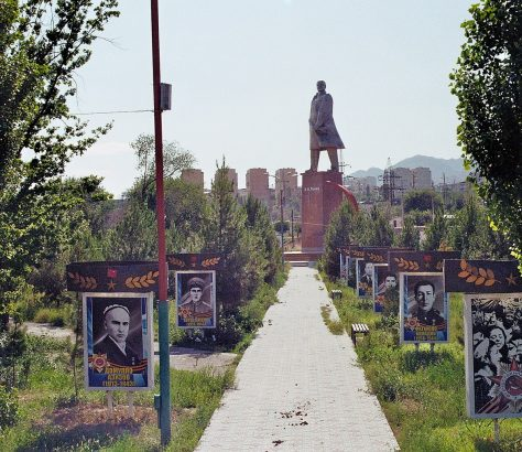 Khoudjand Tadjikistan Statue Lénine Union soviétique