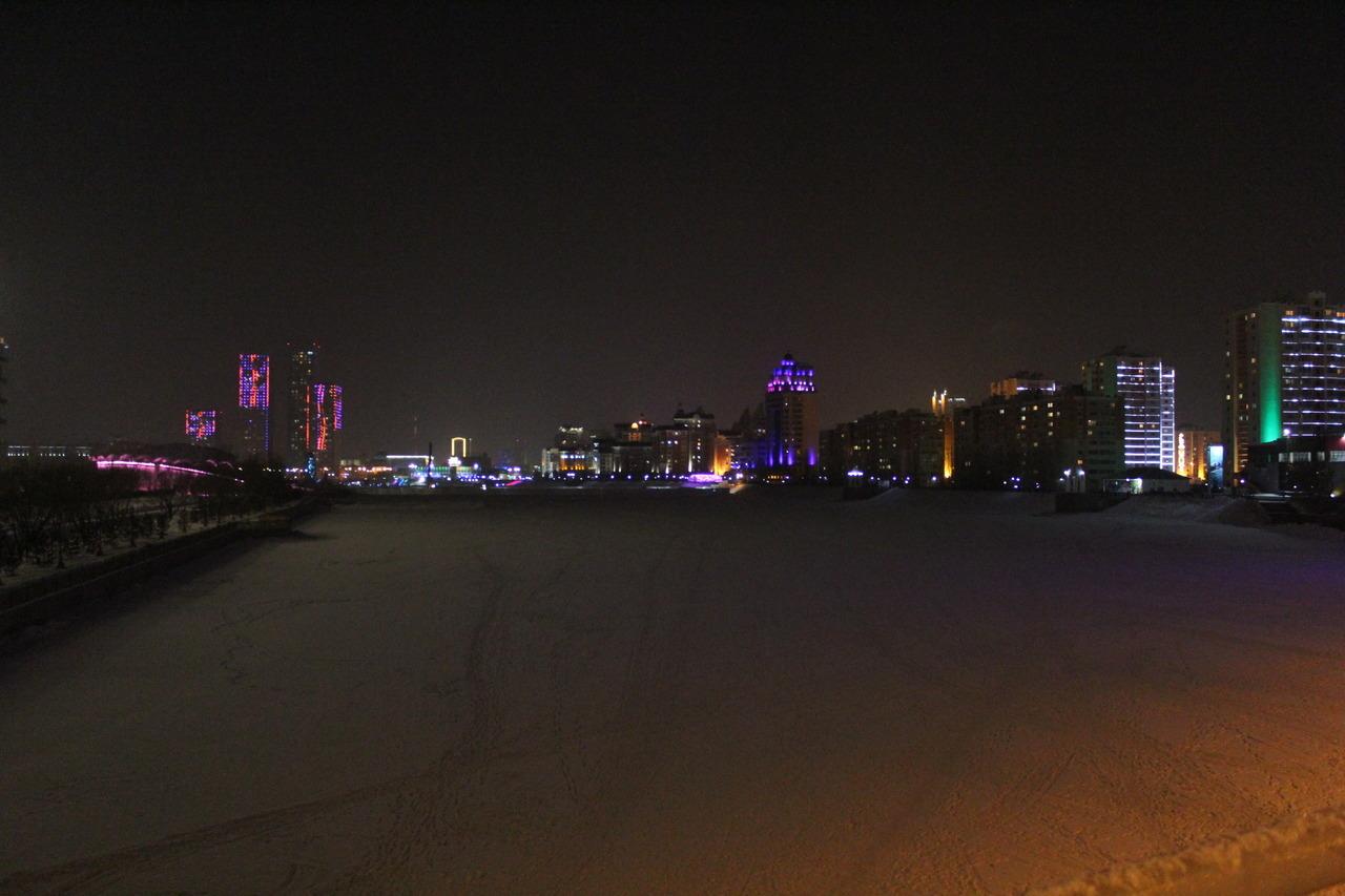 Astana Kazakhstan hiver Ichim